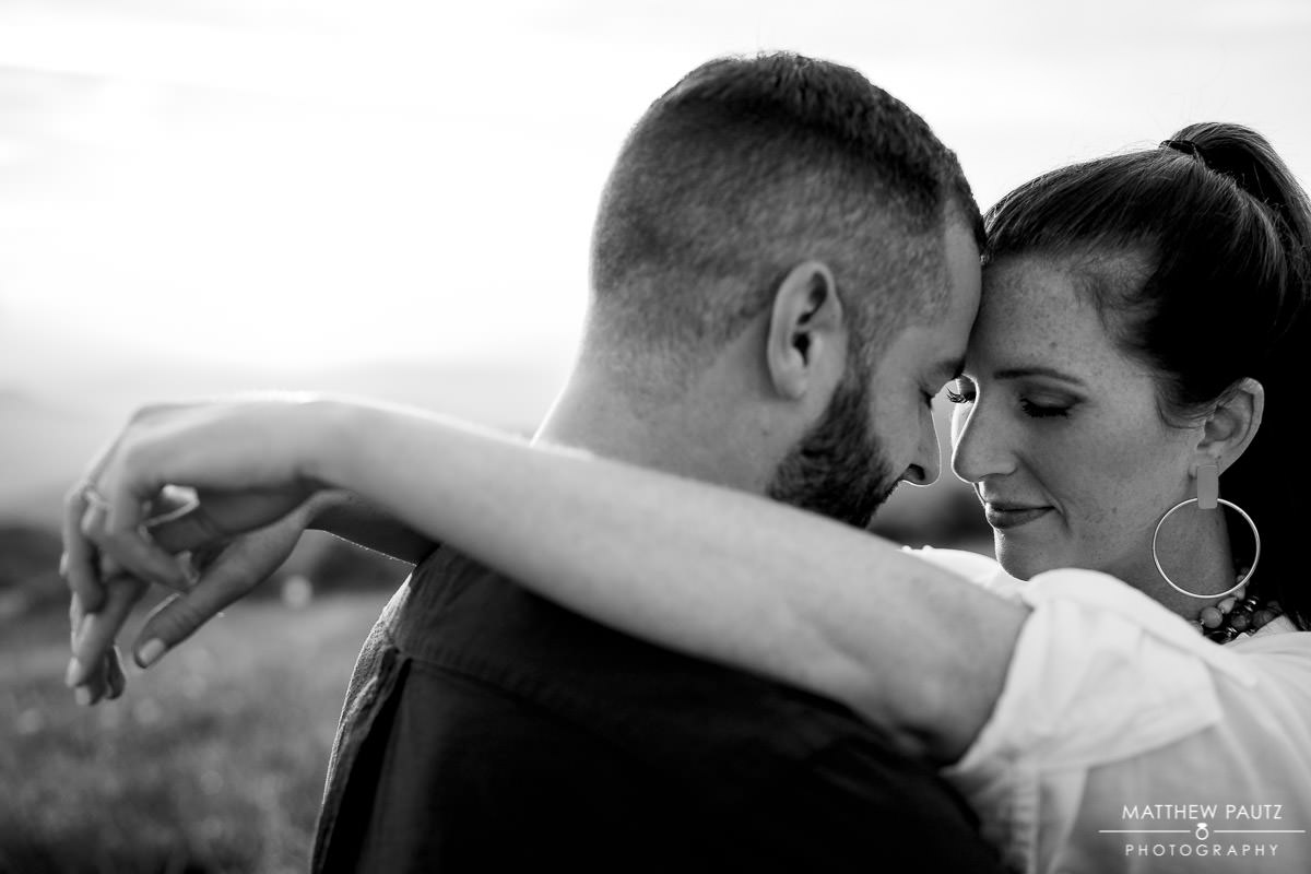Max Patch mountain engagement photos