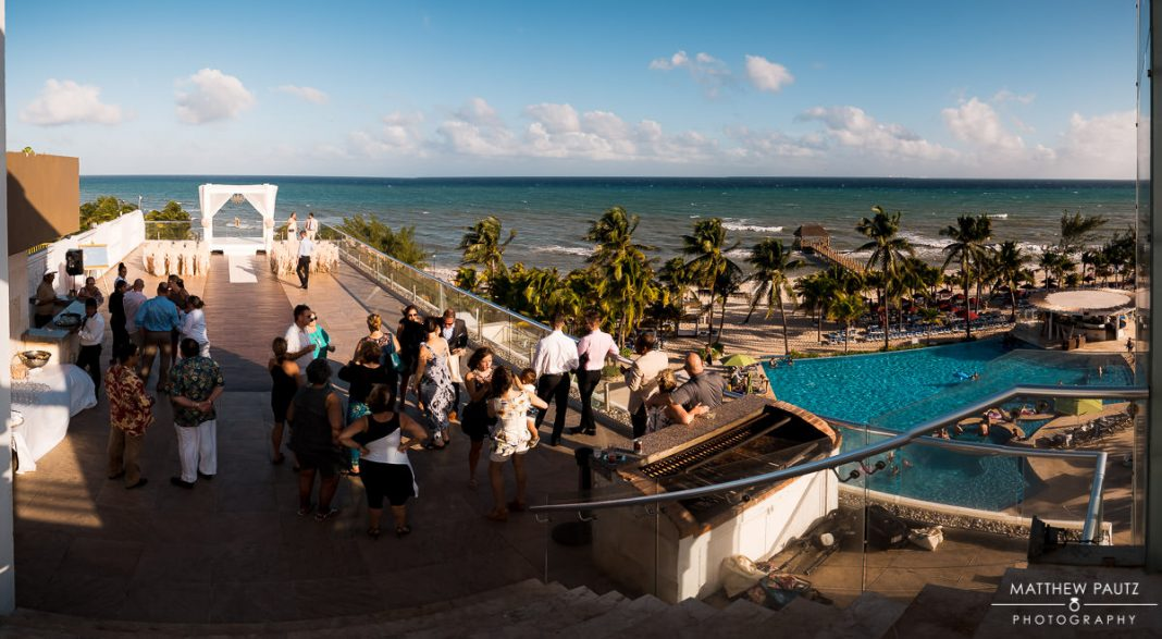 Skydeck destination wedding ceremony at Azul the Fives, Playa Del Carmen