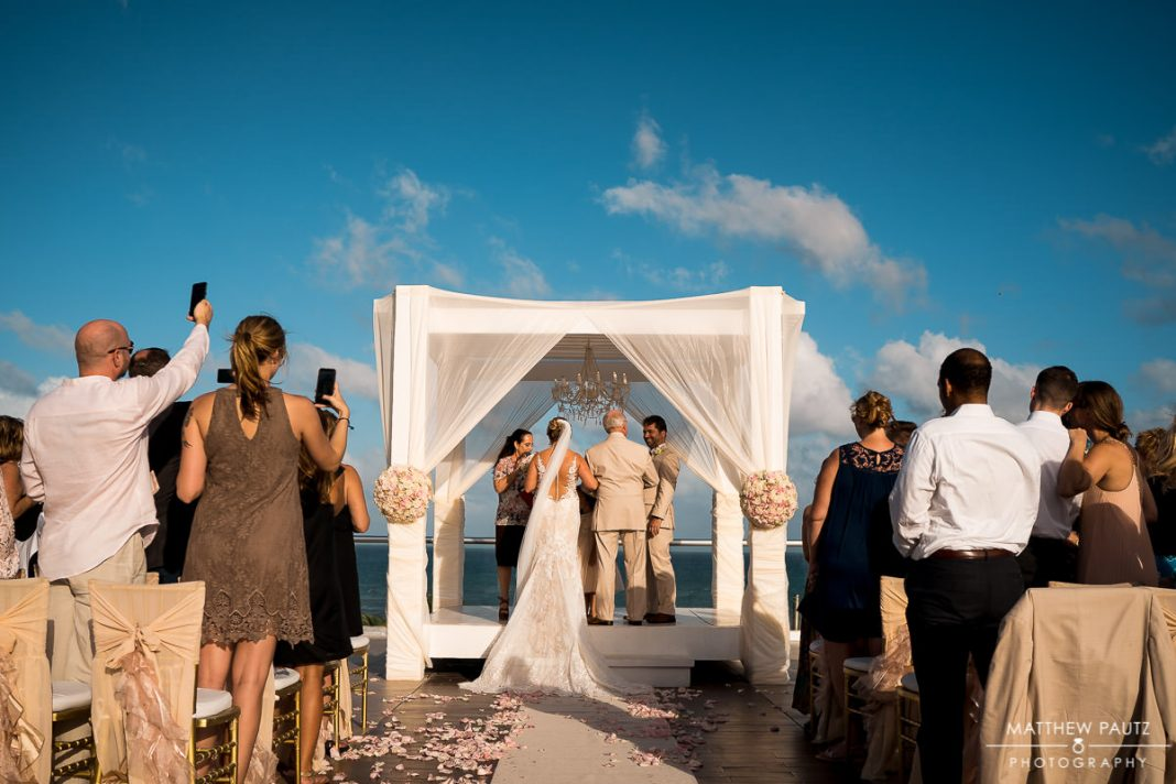 Skydeck wedding ceremony at Azul The Fives beach resort