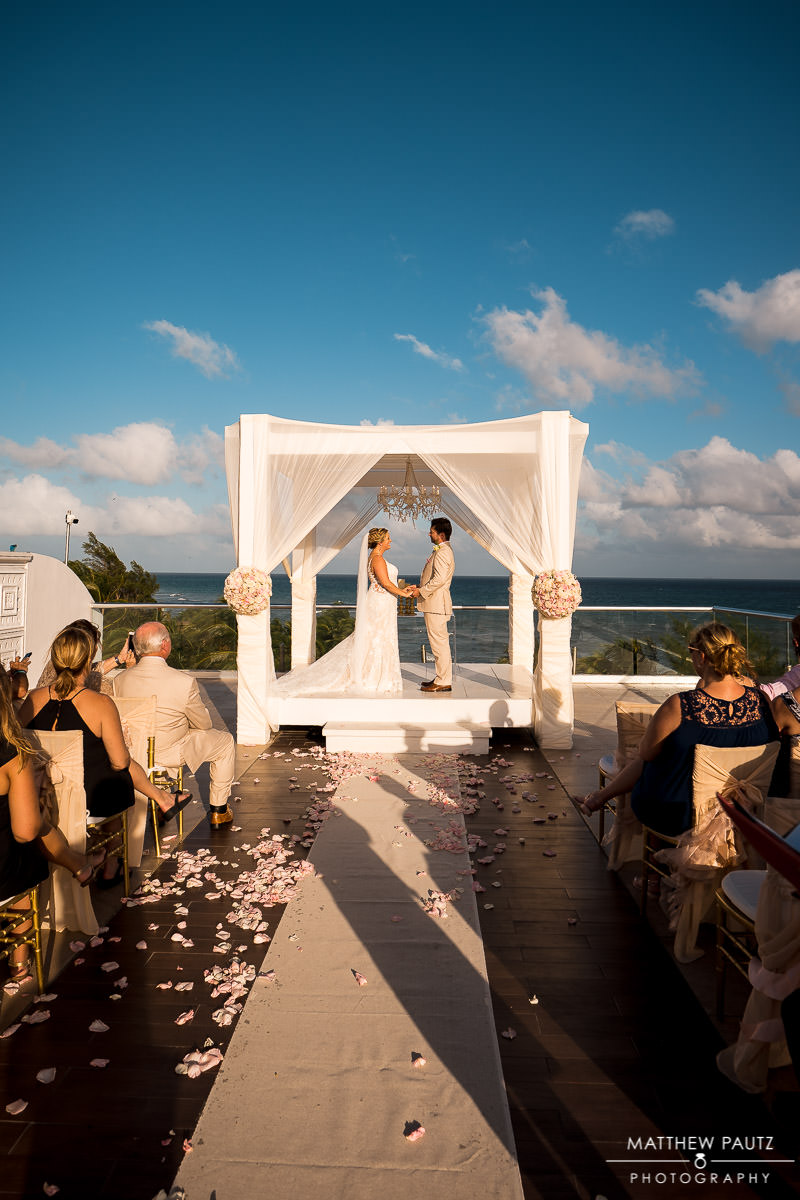 playa del carmen destination wedding ceremony