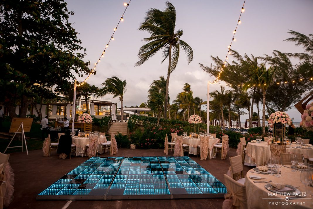 azul the fives beach resort wedding reception setup