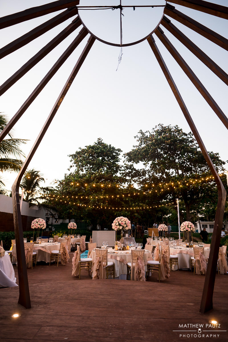 wedding reception at azul the fives gazebo
