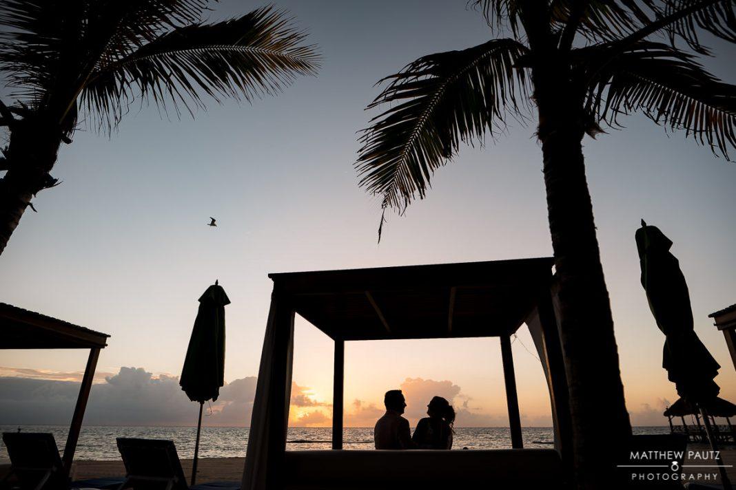sunrise beach wedding photos