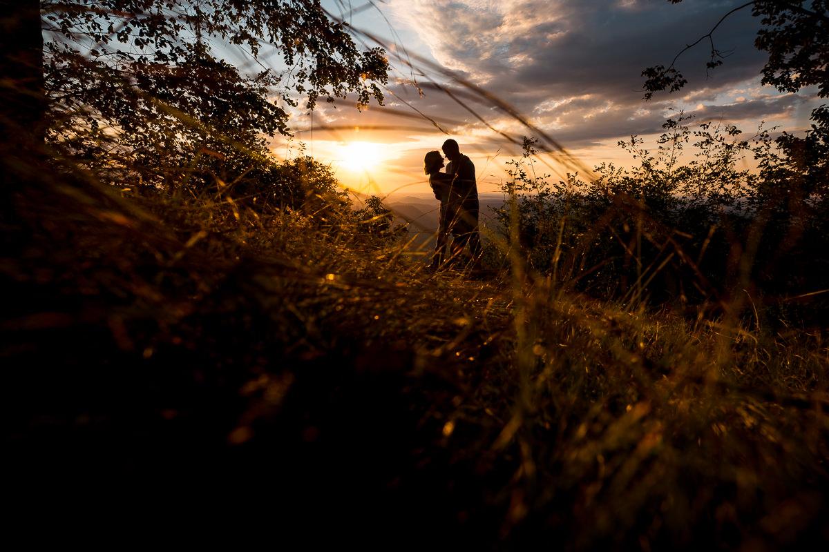 Sunrise proposal photo at Pretty Place Chapel