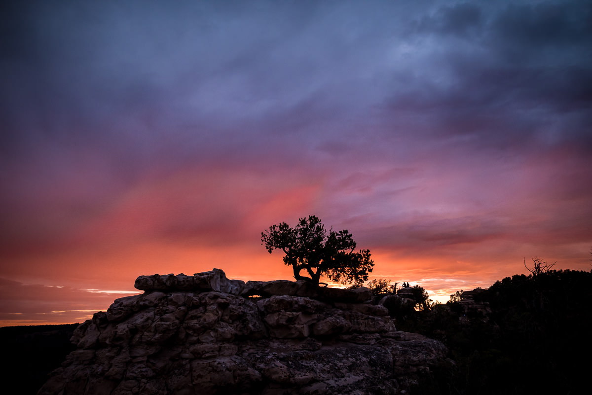 Colorful grand canyon sunset photo