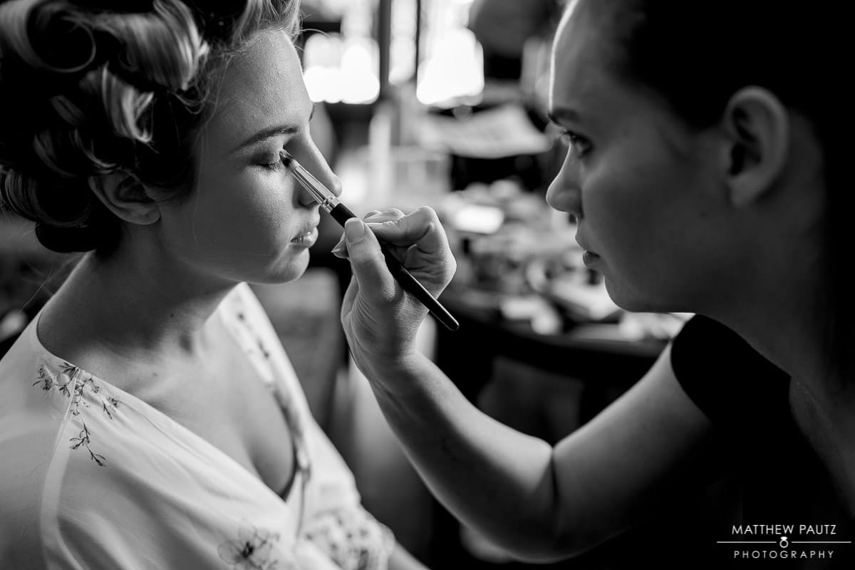 Bridal hair and makeup at The Bleckley Inn