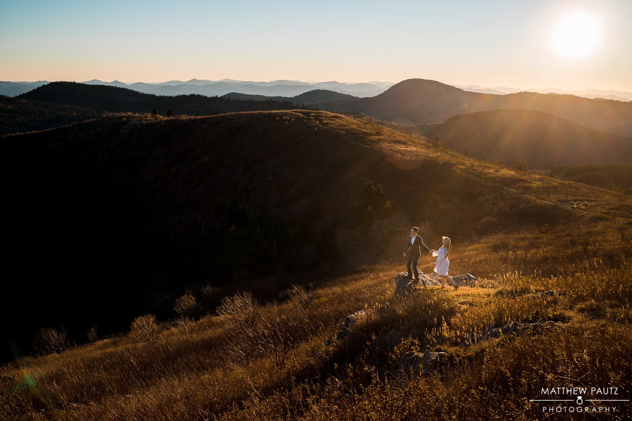 Black balsam knob engagement photos