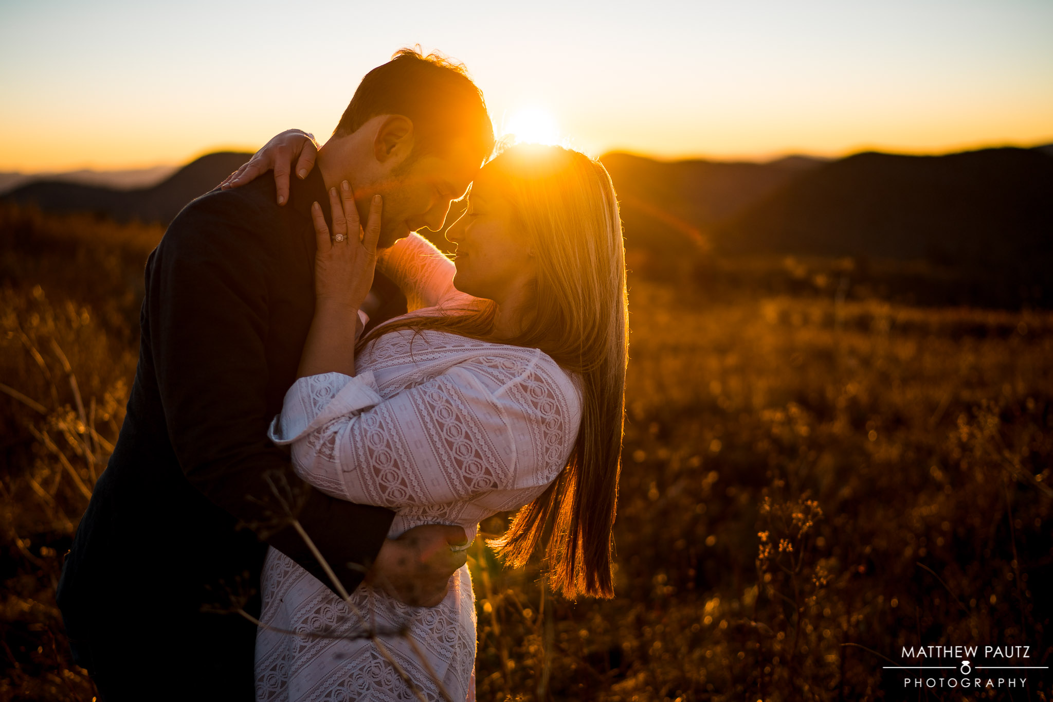 Sunset Mountain engagement photos