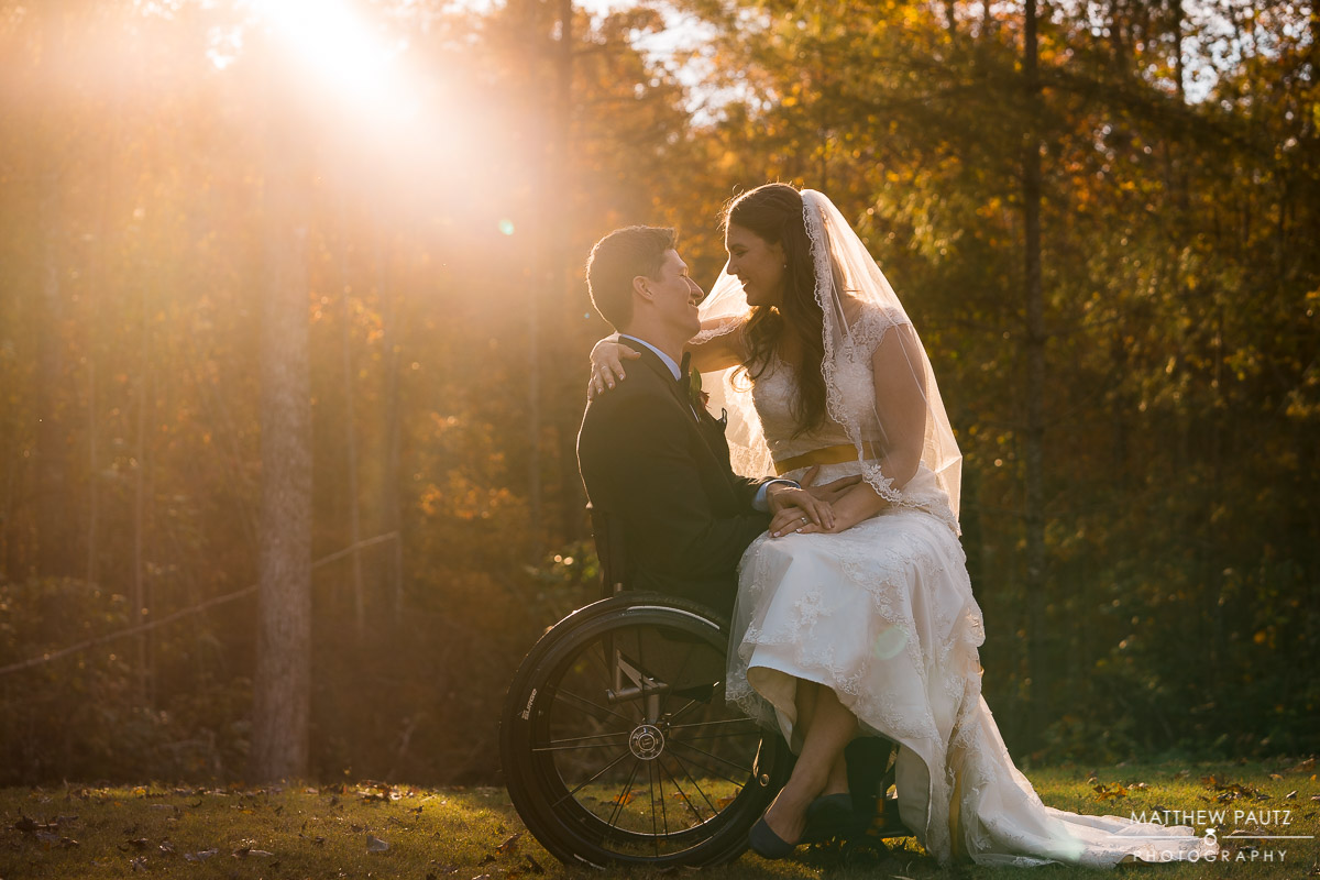 Wheelchair wedding photos