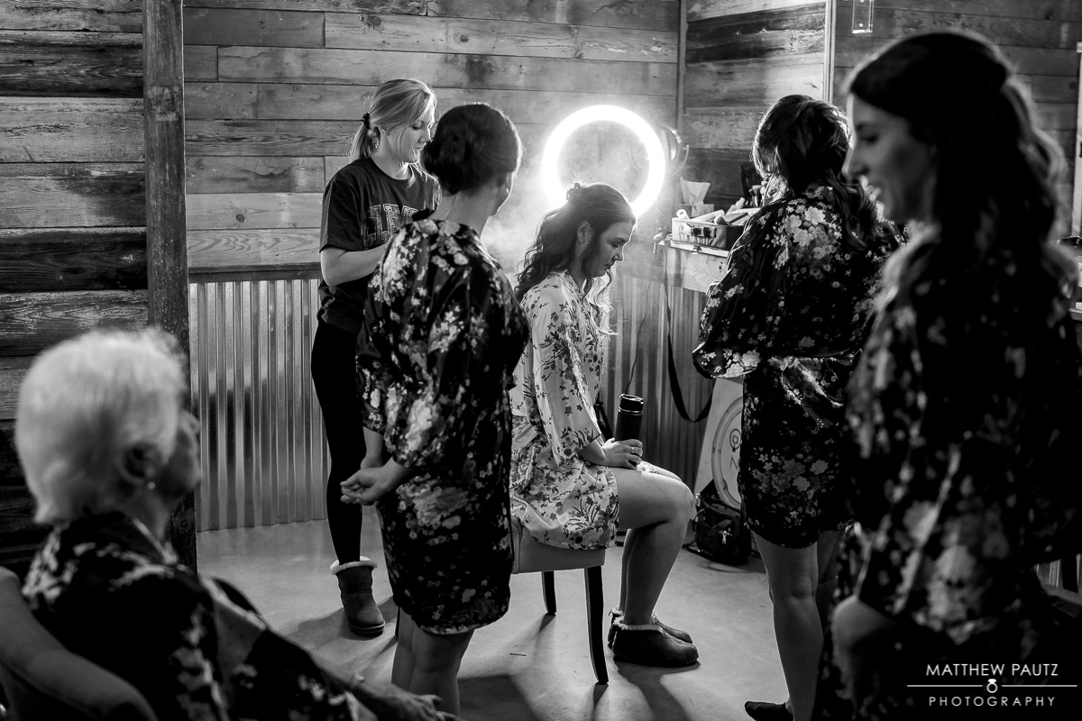 Bridal prep room at Charlyn Farms