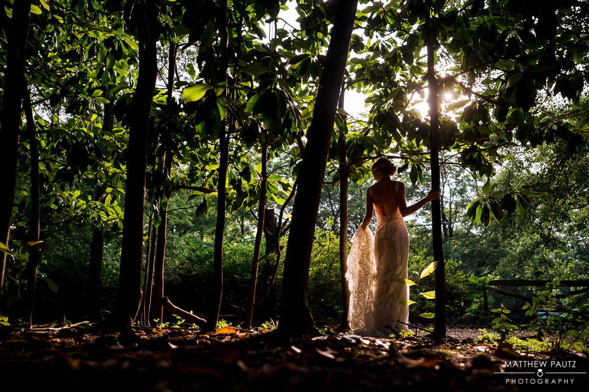 sunset wedding photos at clevedale inn