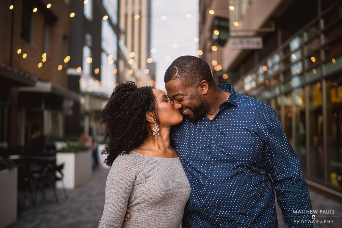 Downtown Greenville SC Engagement Photos taken at NOMA Square