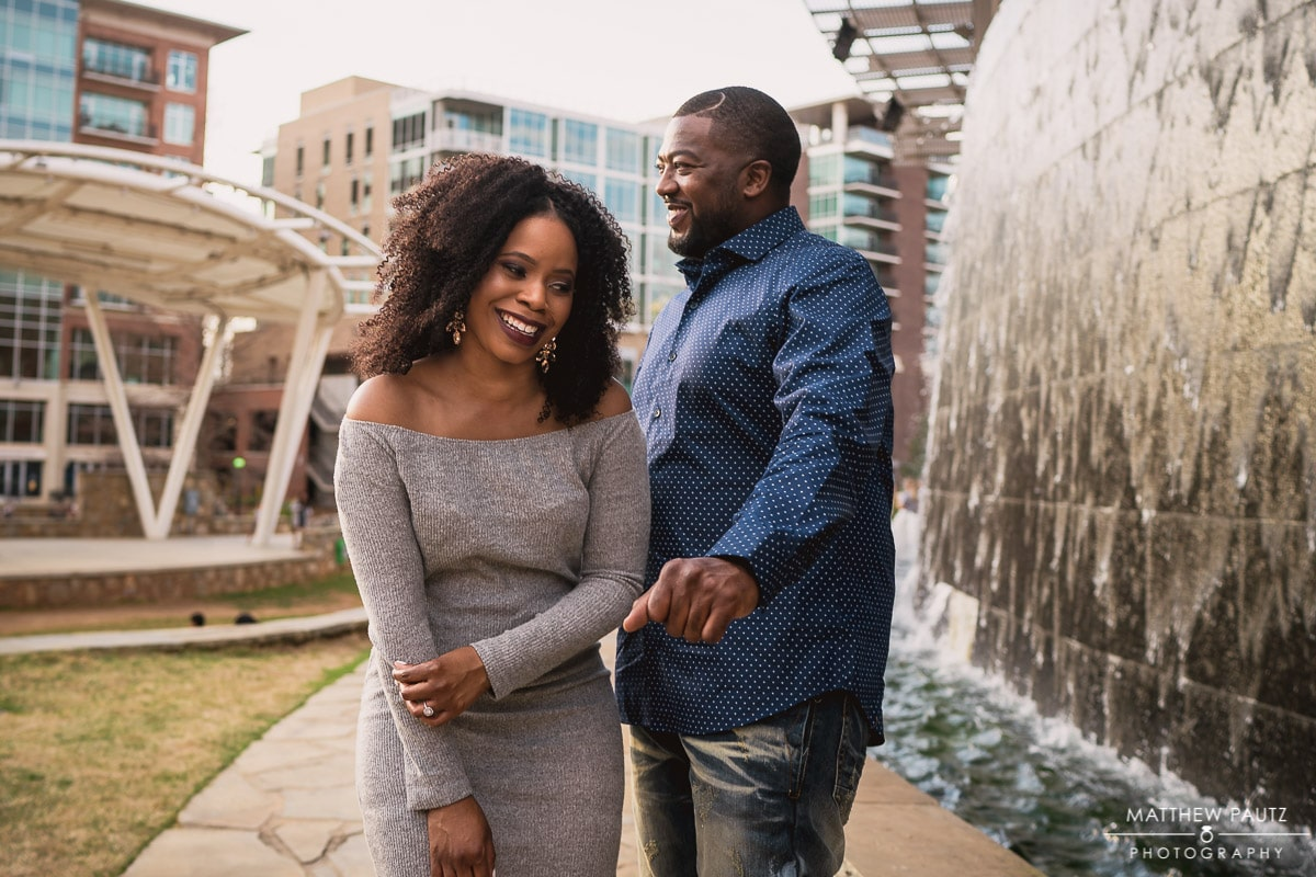 Candid engagement pictures in Greenville SC