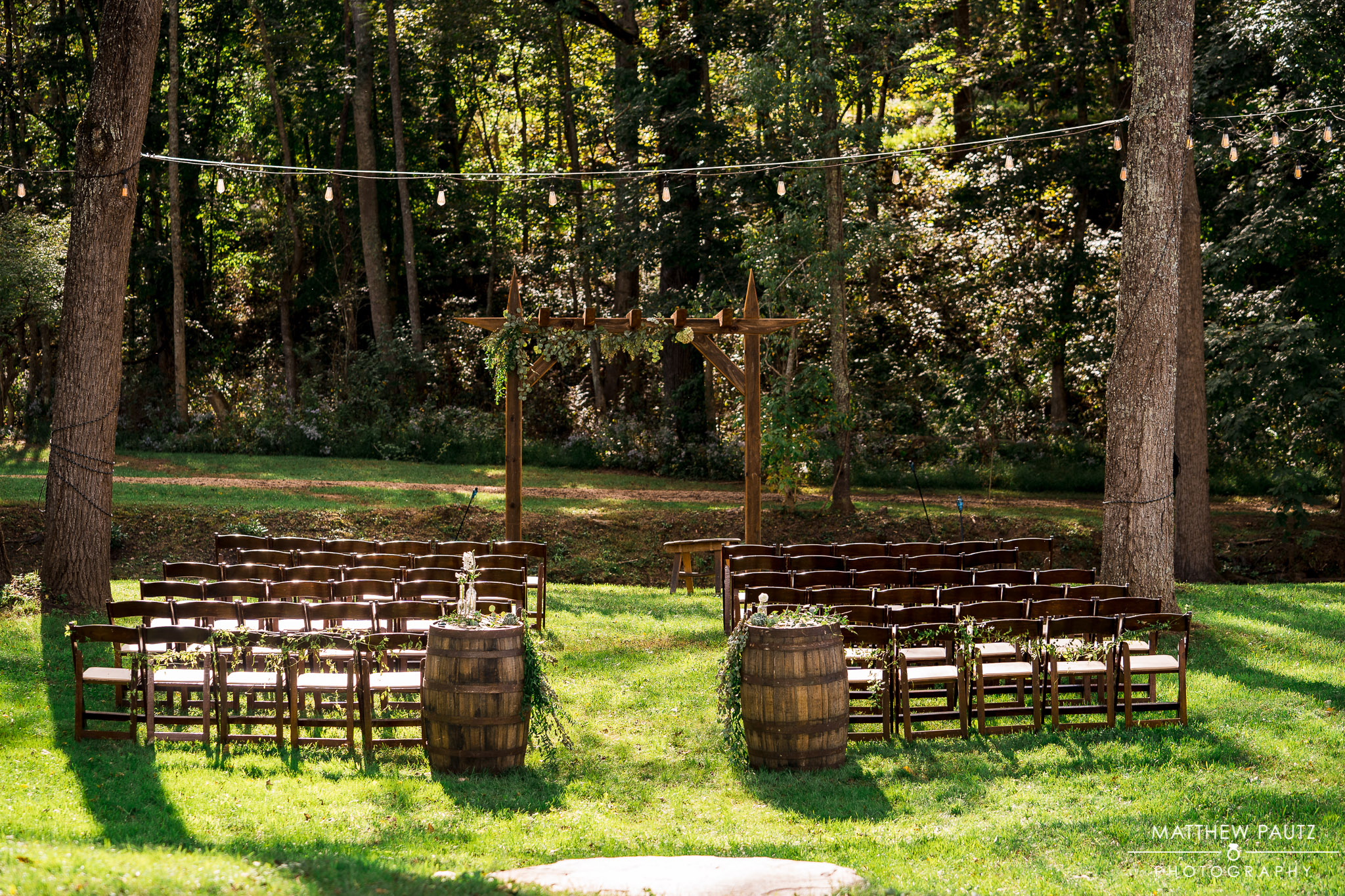 Wedding Ceremony location at Junebug retro resort in Asheville, nc