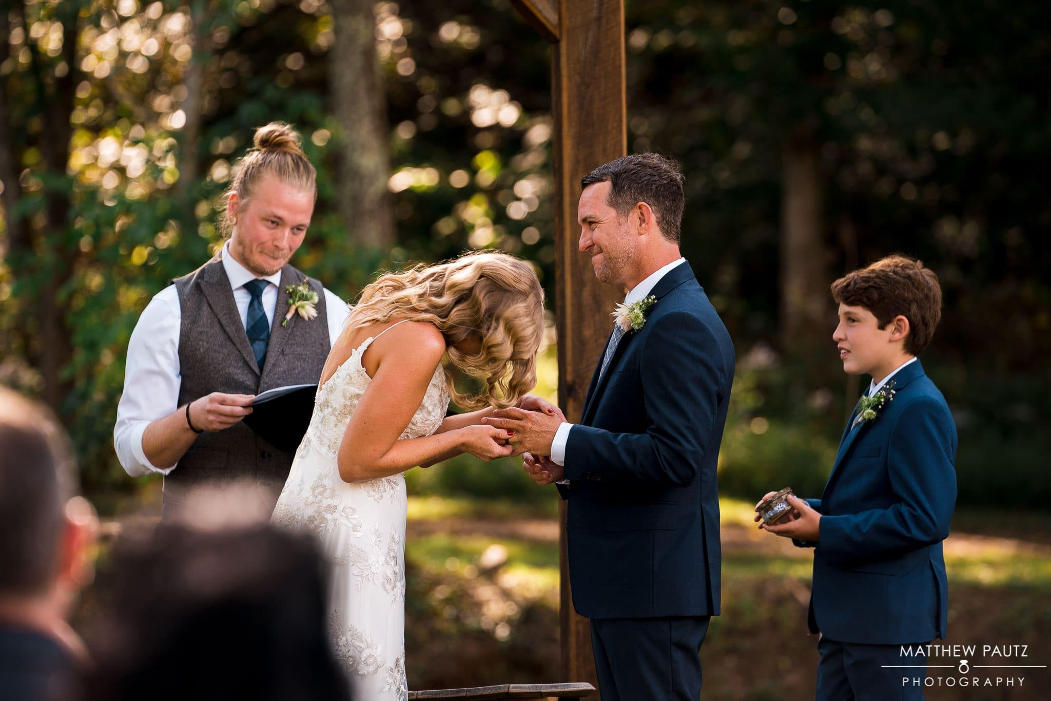 Junebug Retro wedding ceremony