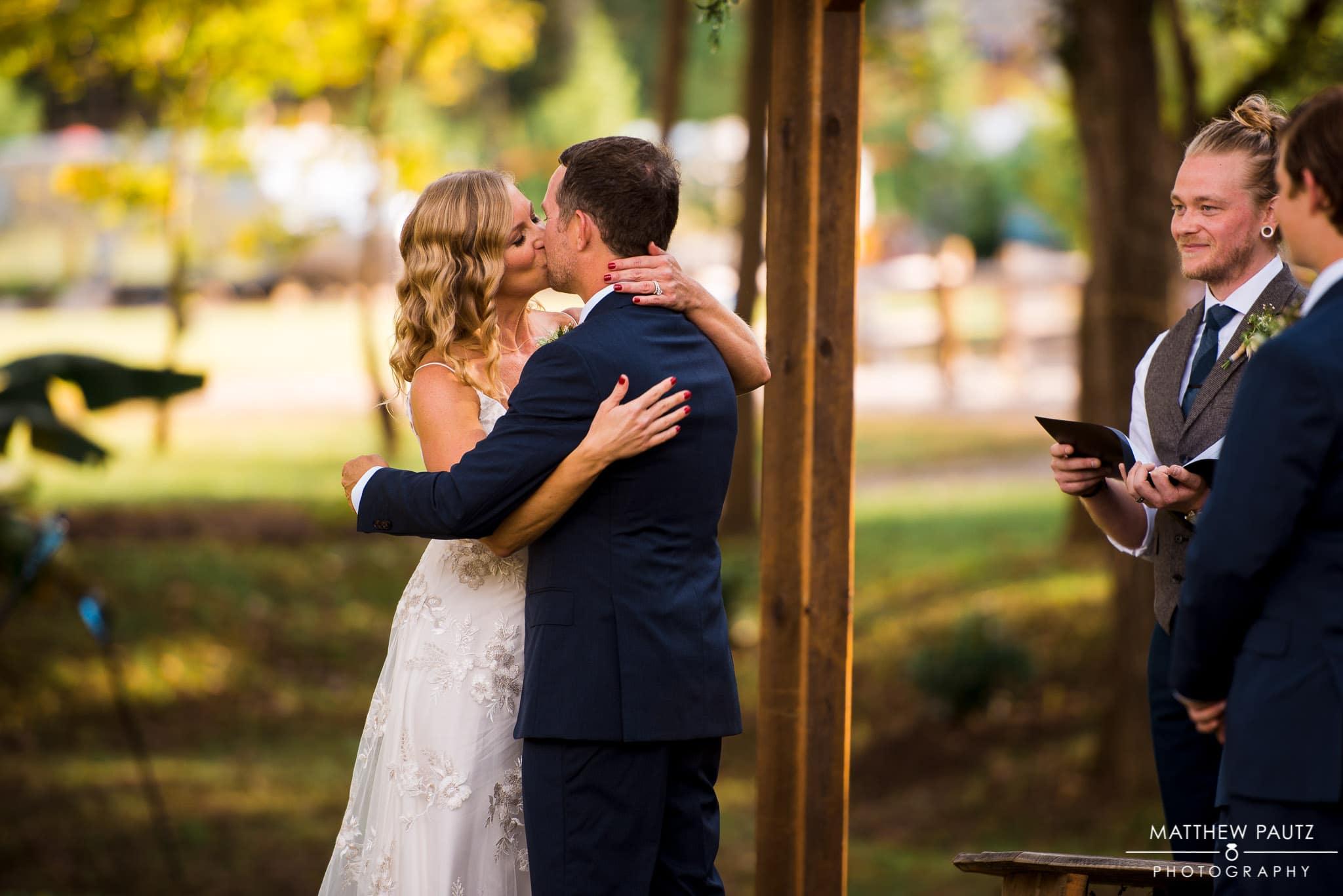 Asheville outdoor wedding ceremony photos