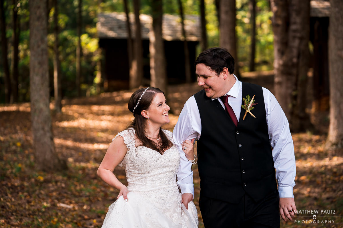 outdoor wedding photos at Camp Buckhorn