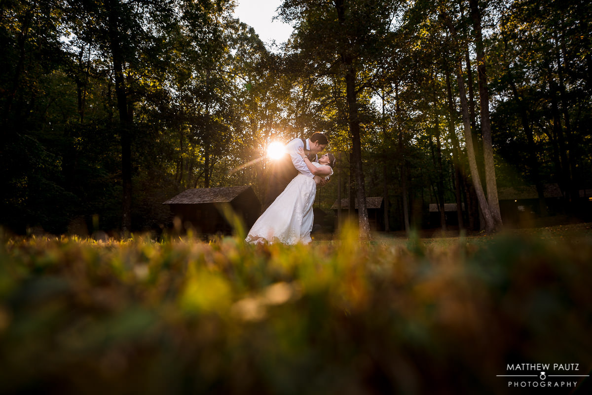 Fall wedding photos at Paris Mountain