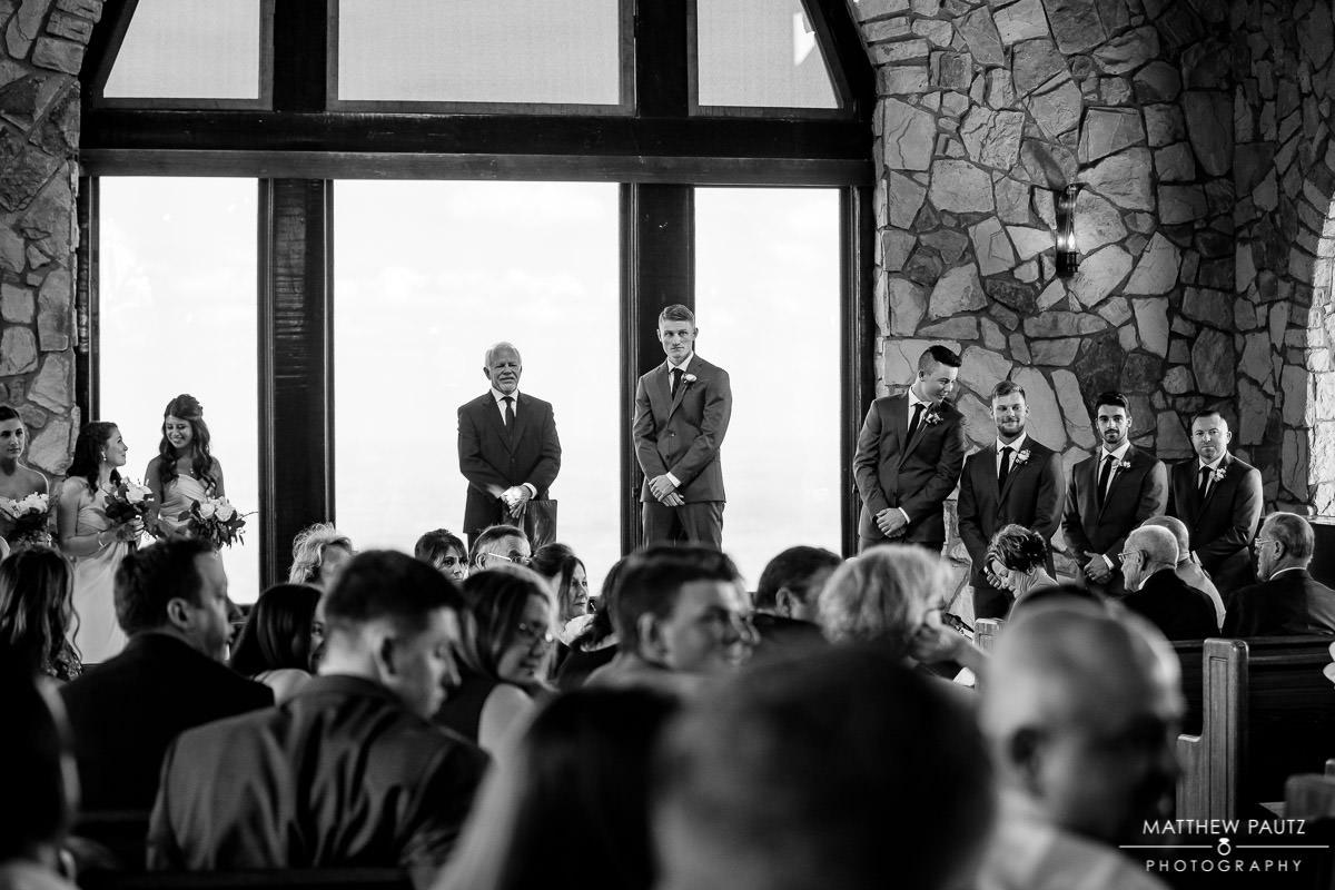 Cliffs at Glassy wedding ceremony