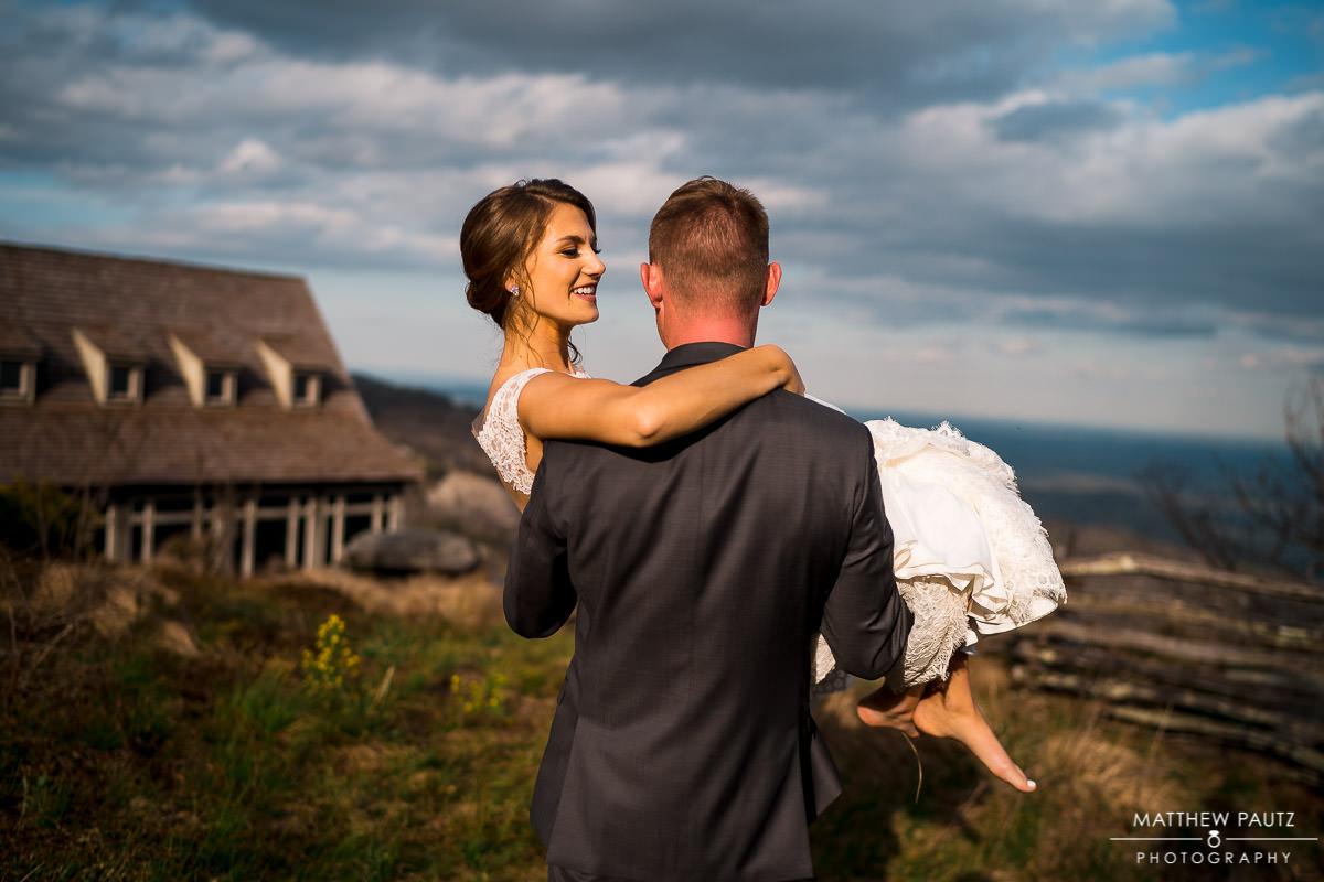 Cliffs at Glassy Mountain wedding