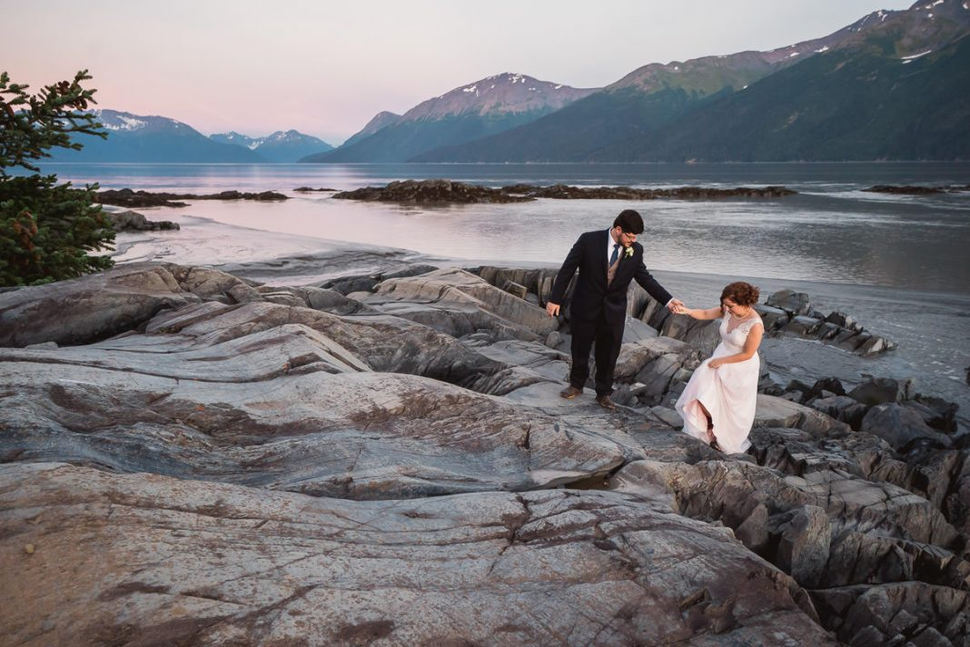 destination wedding photos in Alaska