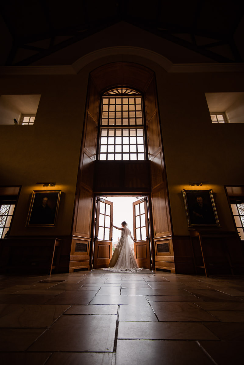 Furman university bridal portrait at Daniel Chapel