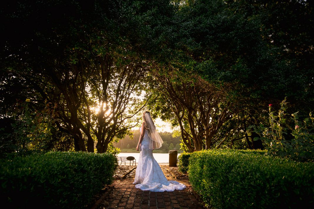 furman university rose garden bridal photos