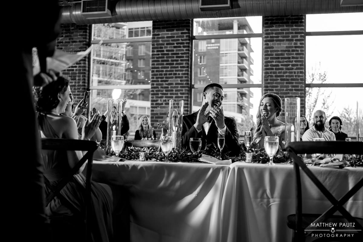 hugenot loft wedding reception photos