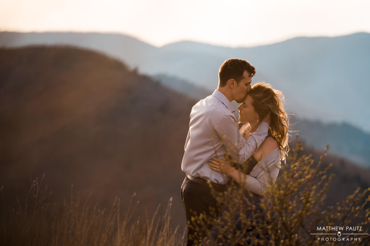 mountain engagement photography outside asheville nc