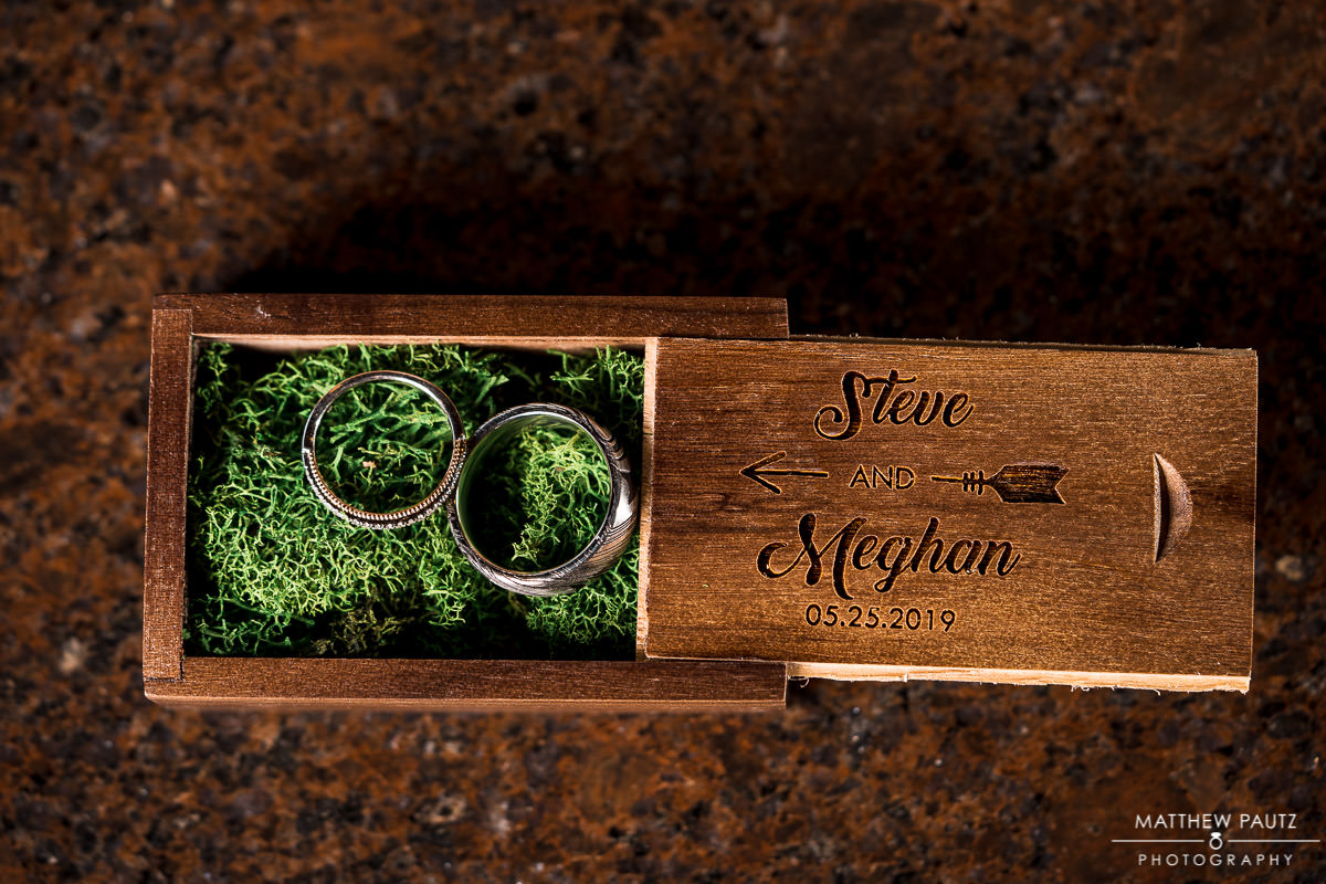 Custom wedding ring box idea