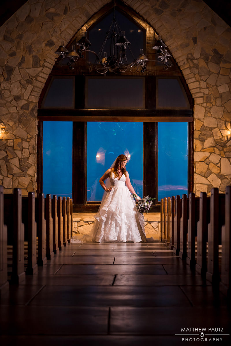 cliffs at glassy chapel bridal photos