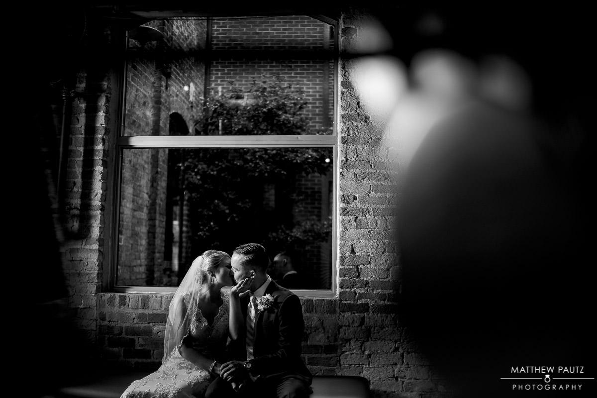 Wedding photos at the Huguenot Loft at the Peace center