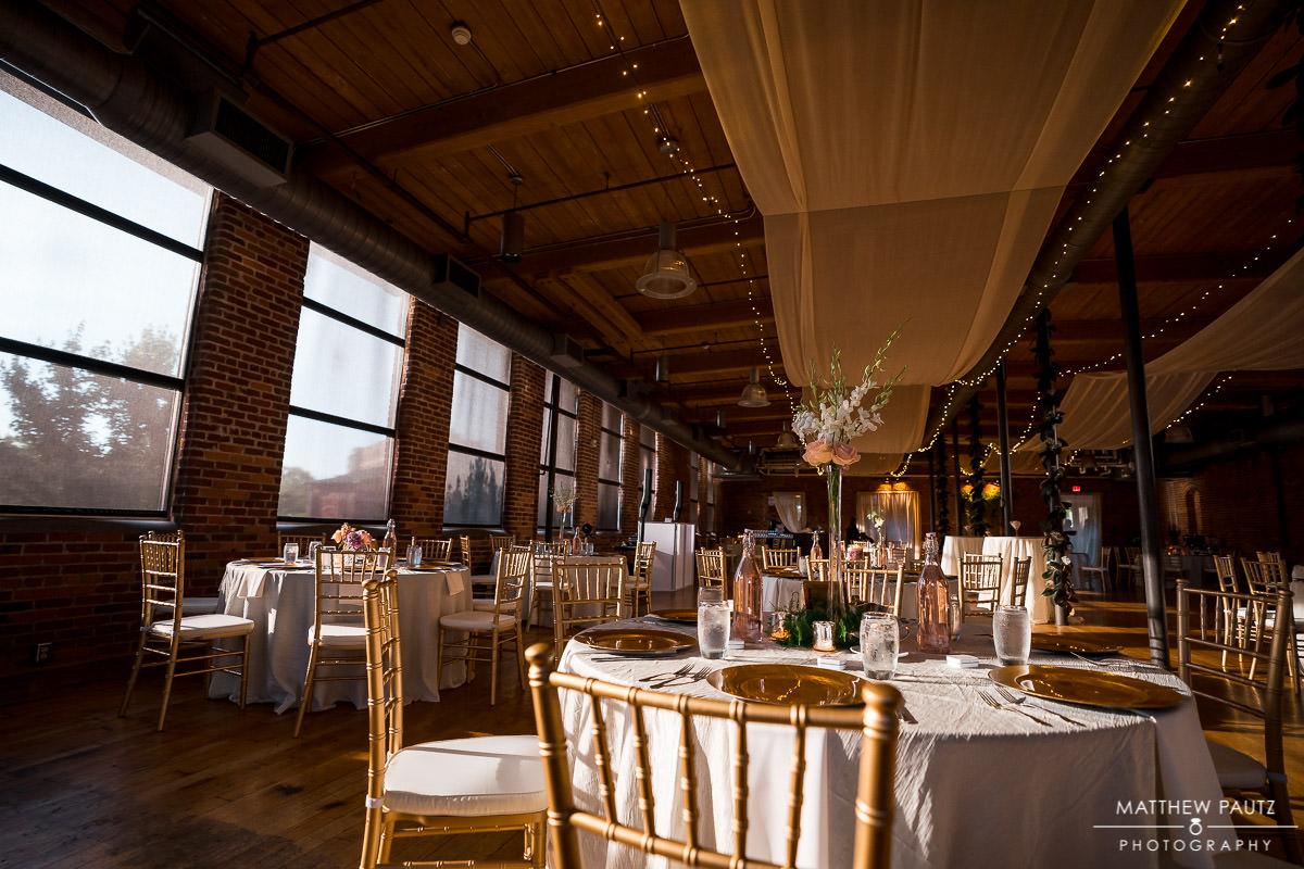 Wedding reception at the huguenot loft greenville