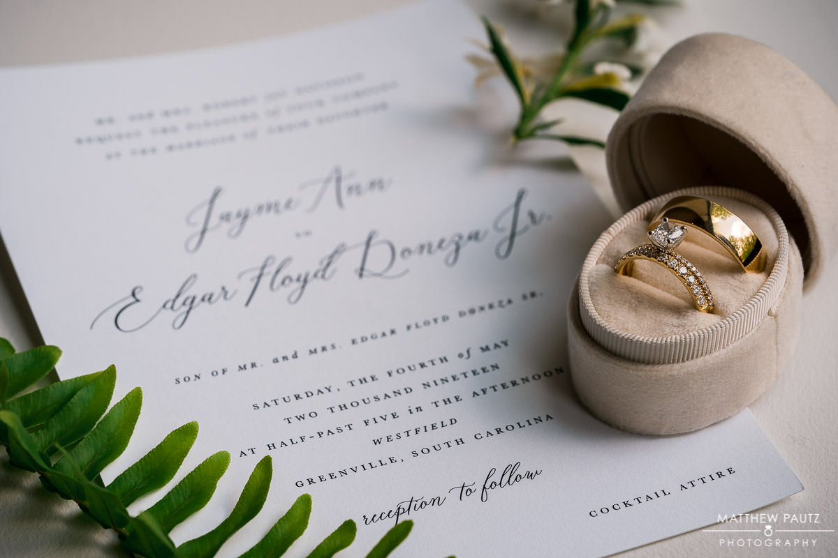 wedding rings and announcement