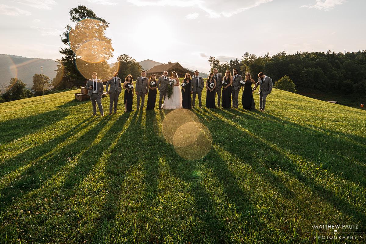 Sky retreat wedding photos, Boone, NC