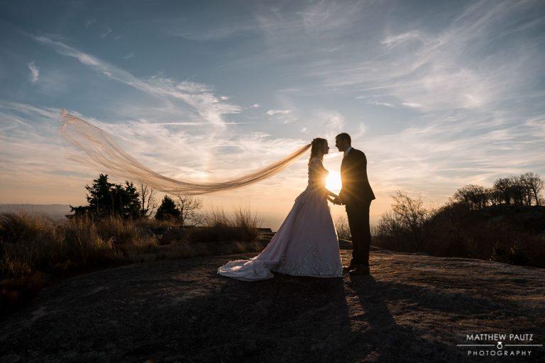 silhouette wedding photos