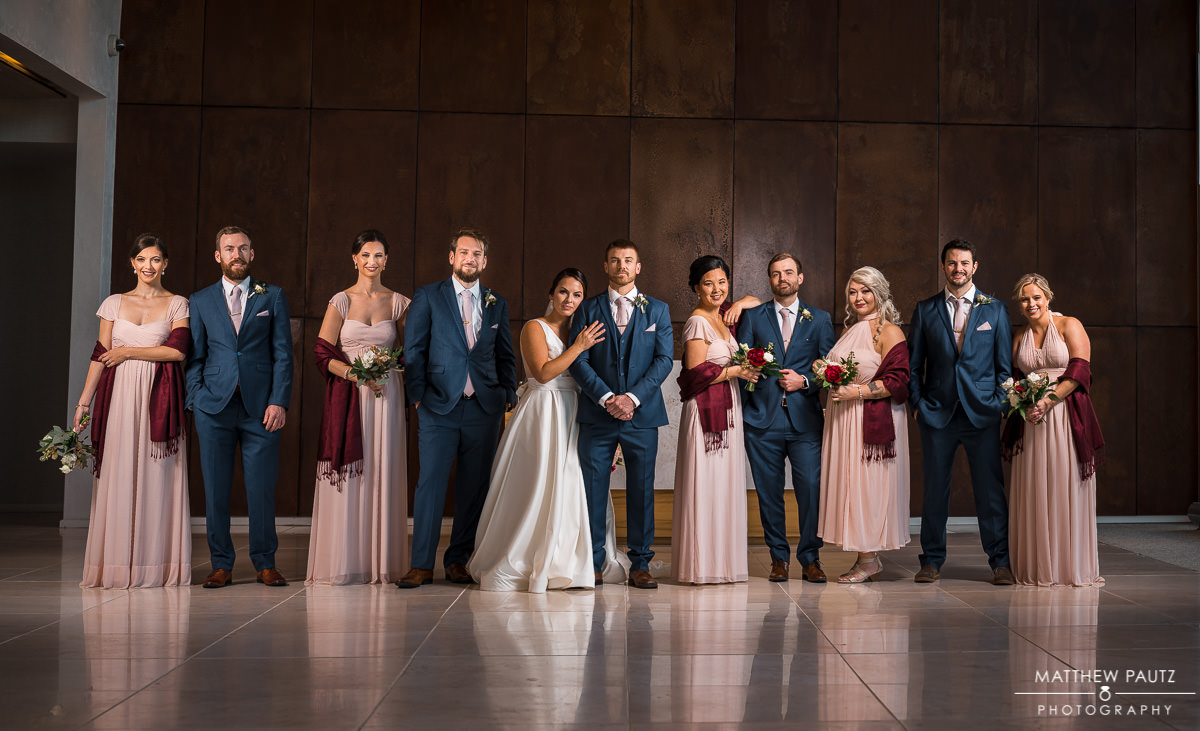 wedding party photography at the avenue, greenville sc